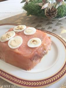 Pastel frío de Salmón Ahumado con Pan de Molde