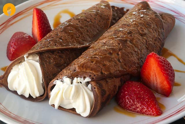 crepes de chocolate