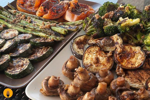 Parrillada de Verduras con Vinagreta -Menú para el Día del Padre