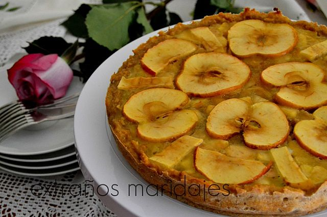 Tarta de mazana y pan