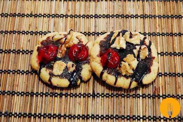 Recetas de galletas con nueces y cerezas