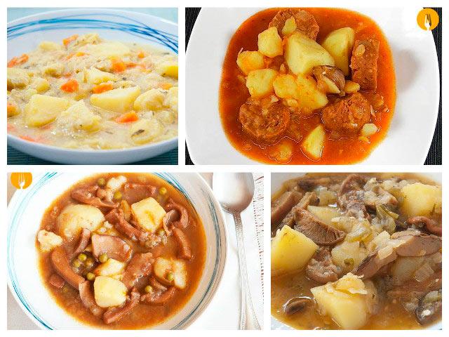 Guisos deliciosos con patatas