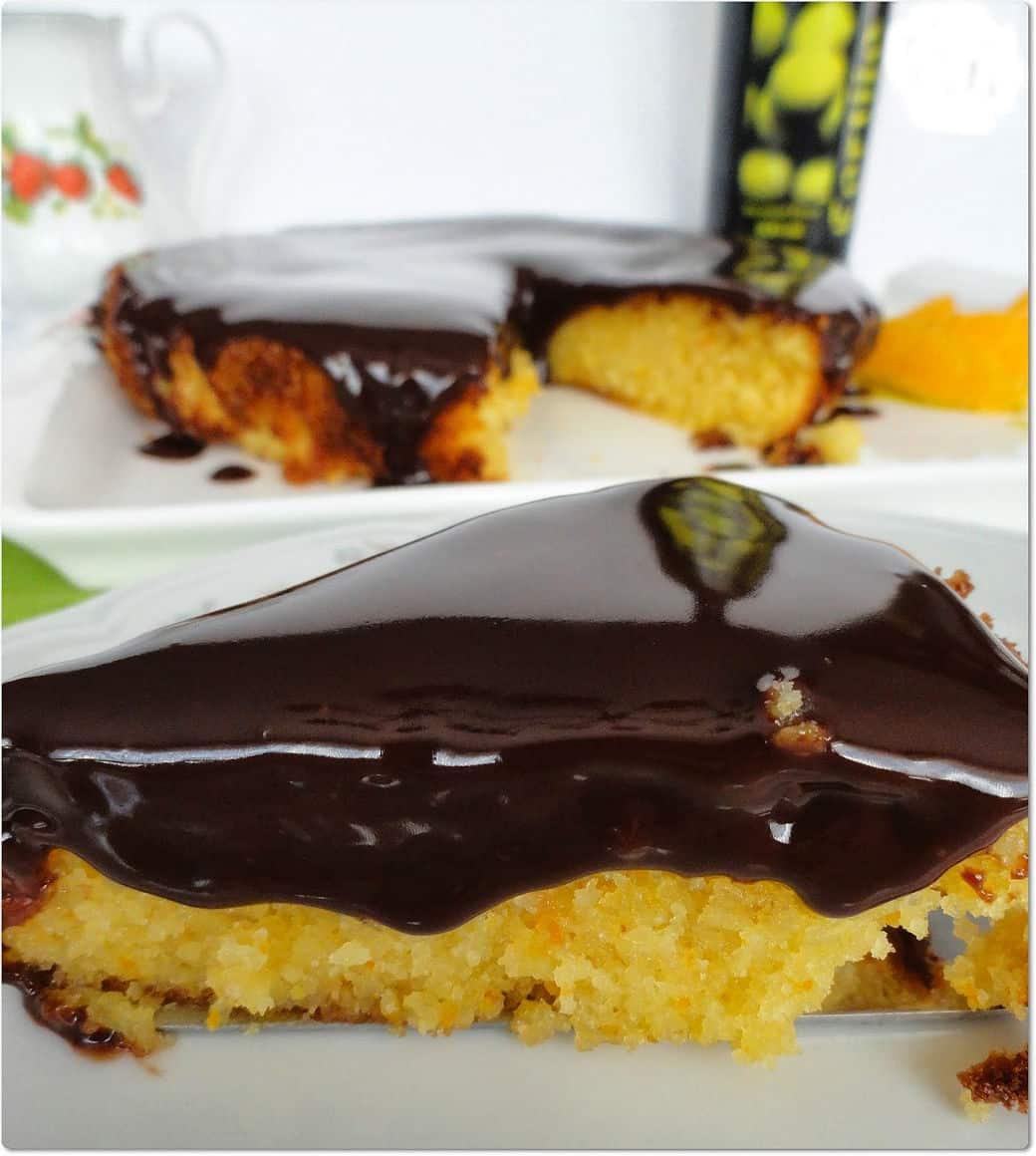 tarta de almendra de naranja