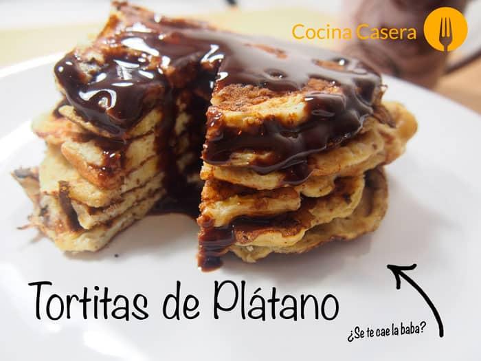 Tortitas de Plátano - Panqueques o pancakes de banana