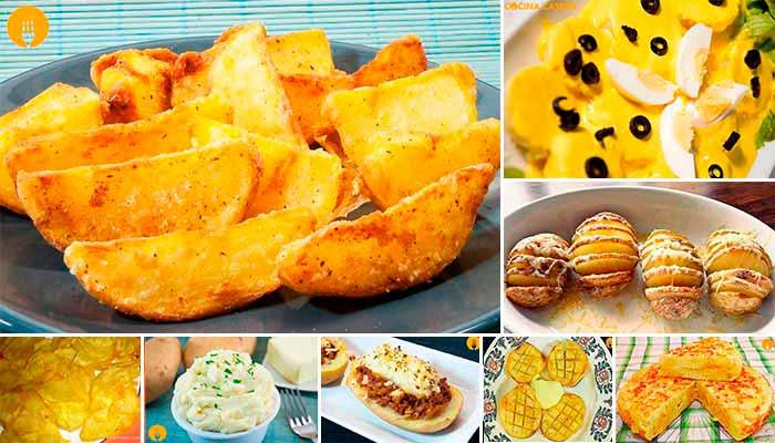 Recetas de patatas o papas increíbles y fáciles con Vídeo