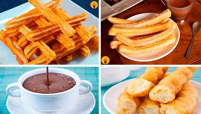 Churros, Porras y chocolate para mojar