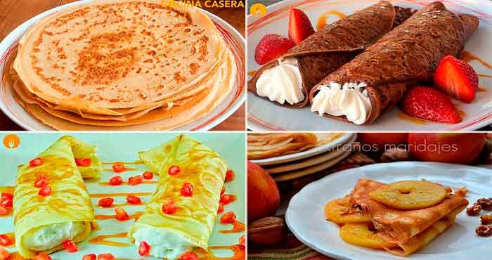 4 recetas de Crepes irresistibles