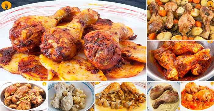 8 vídeo recetas de Muslos de Pollo