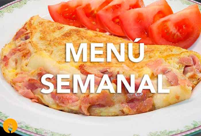 Men semanal del 15 al 21 de agosto recetas de cocina Menu comida casera