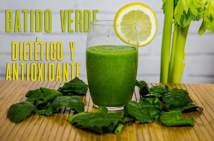 Batido Verde Dietético y Antioxidante
