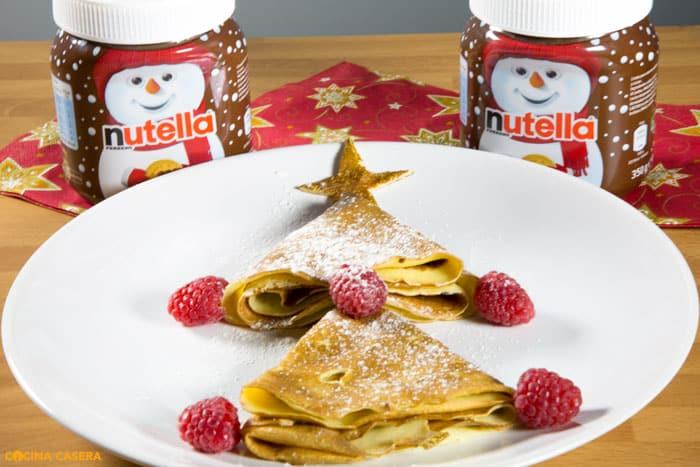 Crêpes Navideñas con Nutella