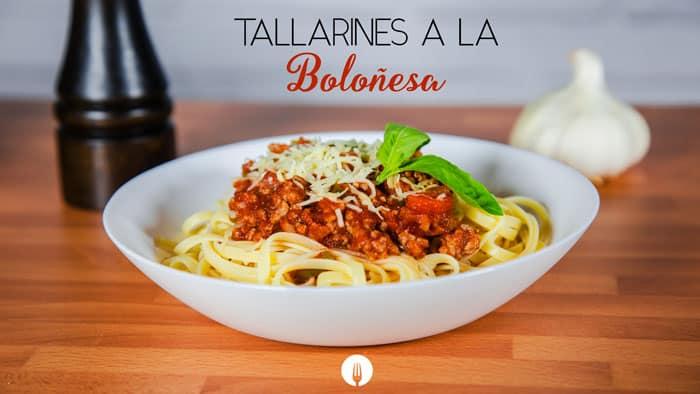 Tallarines a la Boloñesa