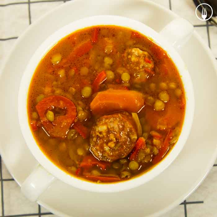 Lentejas Tradicionales con Cooking Chef