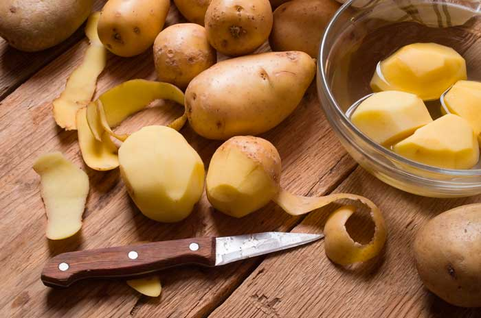 Cómo usar la piel de la Patata como abono