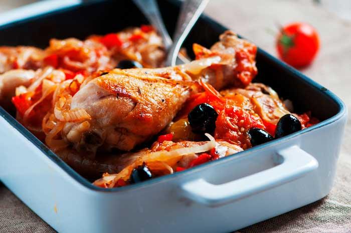 Pollo a la Campesina. Receta fácil en salsa