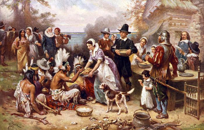 Peregrinos en Acción de Gracias
