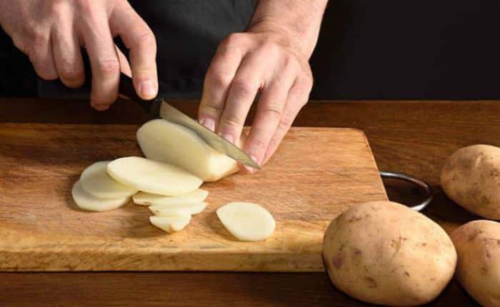Cortar patatas