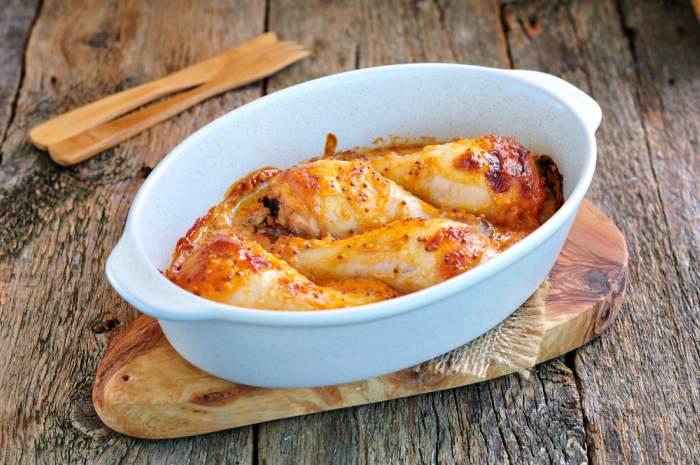 amoncitos de pollo al horno con salsa de cerveza