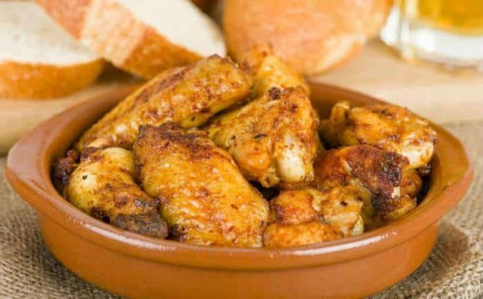 pollo al horno al ajillo