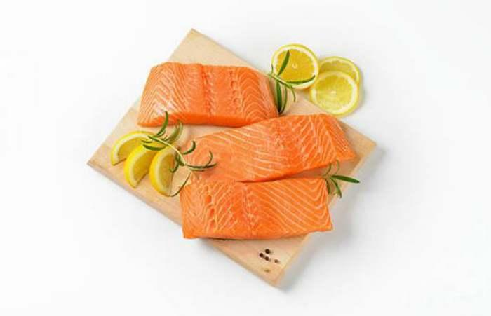 salmón al horno con piña