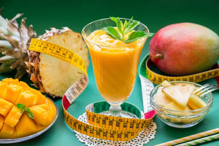 smoothie de piña y mango
