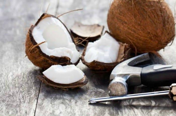 Bizcocho de coco sin azúcar añadido