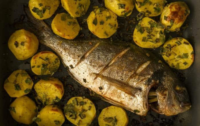 Besugo al horno -Pescado al horno