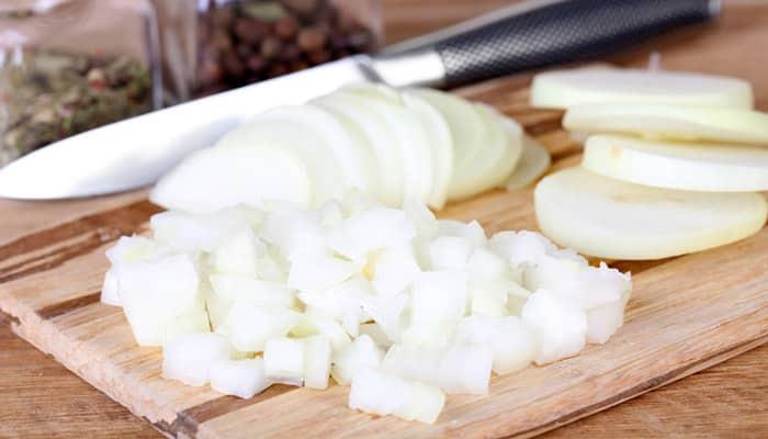 cortar cebolla