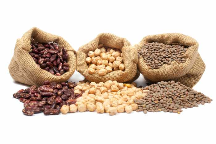 granos de legumbres
