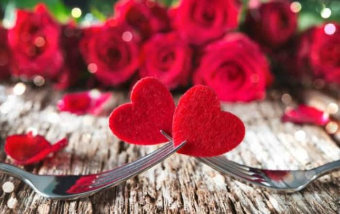 Menú para San Valentín o día Romántico para Enamorados