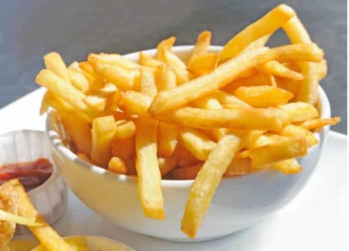 Patatas fritas servidas