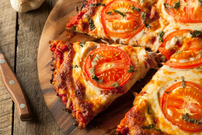 Pizza con base de berenjena