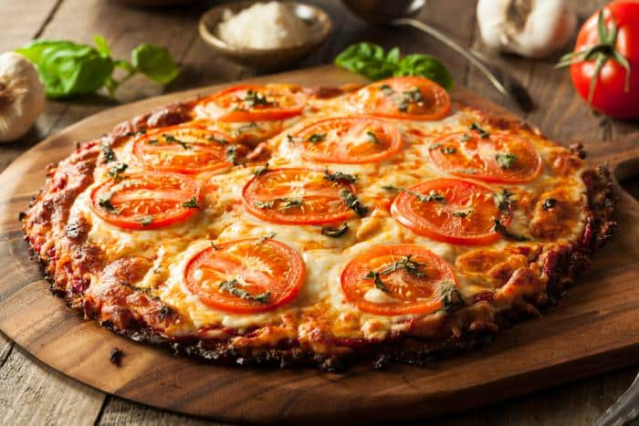 Pizza light de verduras
