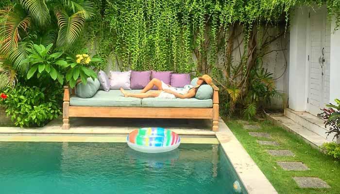 villa en bali con piscina comer y viajar