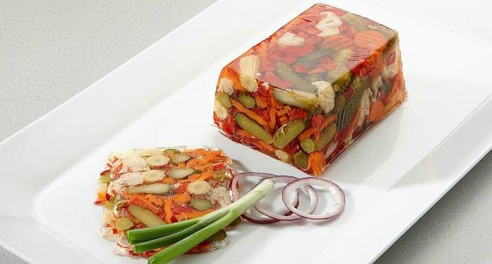 gelatina - gelatina de mosaico