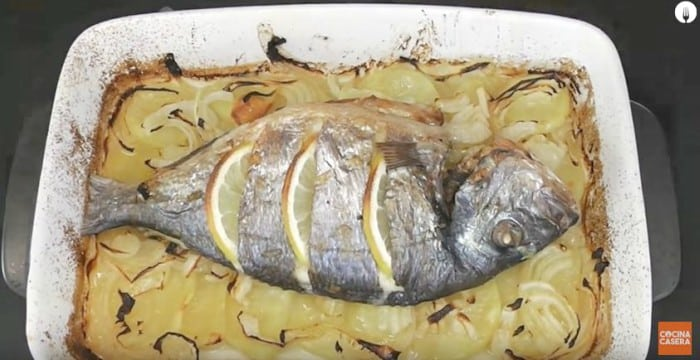 Pescado a horno -Cenas ligeras y fáciles de preparar