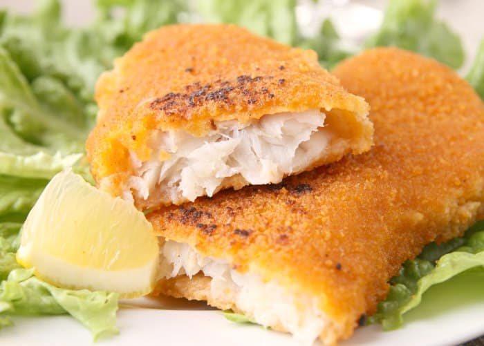 Milanesa de pescado al horno