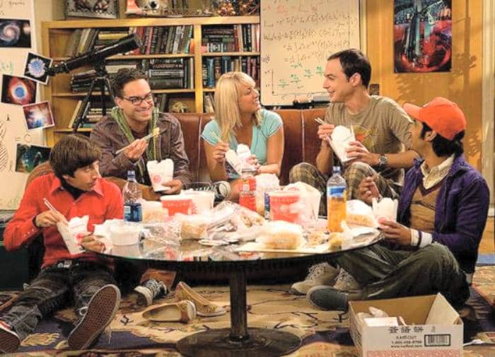 pollo kung pao - escena de Big Bang Theory