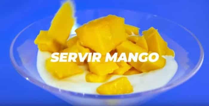 postre de mango y chia