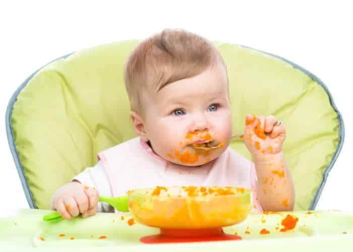 pure de zanahoria - papilla bebe