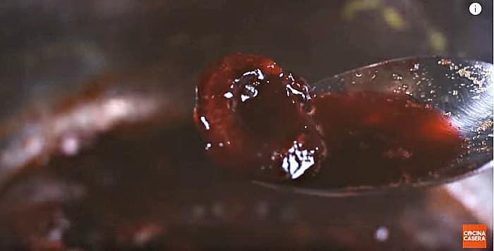 salsa de cereza para solomillo