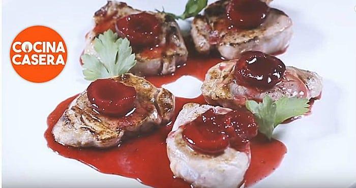 Solomillo en salsa de cerezas