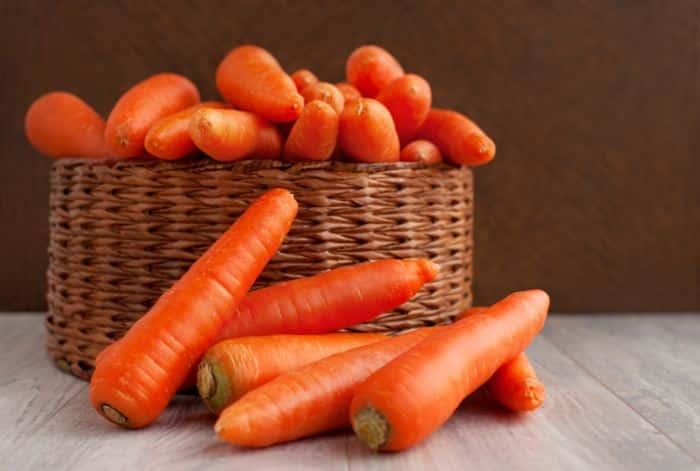 Puré de zanahoria - cesta zanahorias