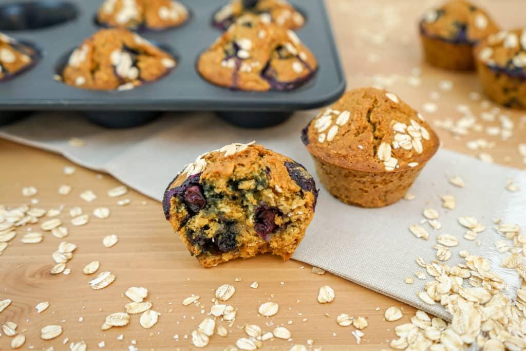 Magdalenas o Muffins de Arándanos saludables