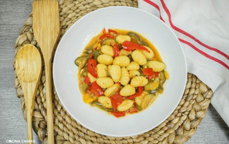 Ñoquis con Salteado de Verduras con Cooking Chef