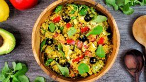 Ensalada de Quinoa con Salsa Tailandesa
