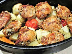 Pollo a la canilla. Receta de Cádiz