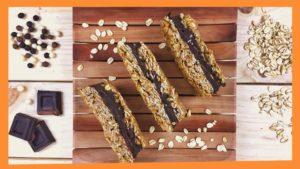 Barritas Energéticas de Chocolate negro y Avena. Snack Saludable