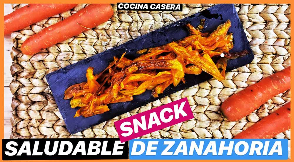 Chips de Zanahoria. Snack Saludable