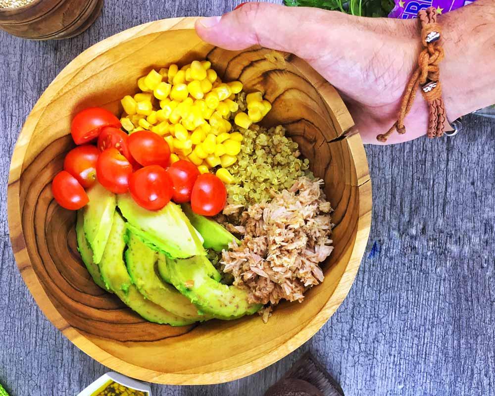 Ensalada de Quinoa, Aguacate y Atún